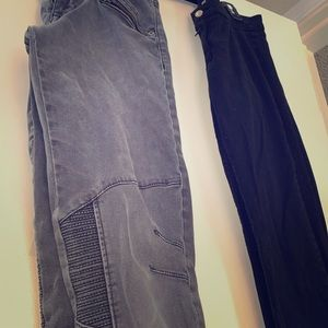 H&M Set of 2 small skinny pants gray moto jeggings